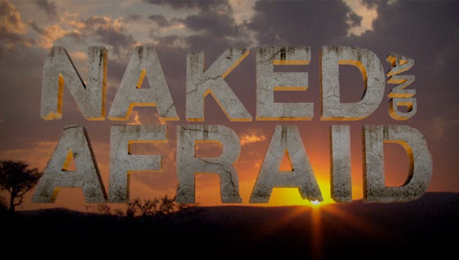 """Logo from the show """"Naked and Afraid"""" on the Discovery Channel."""