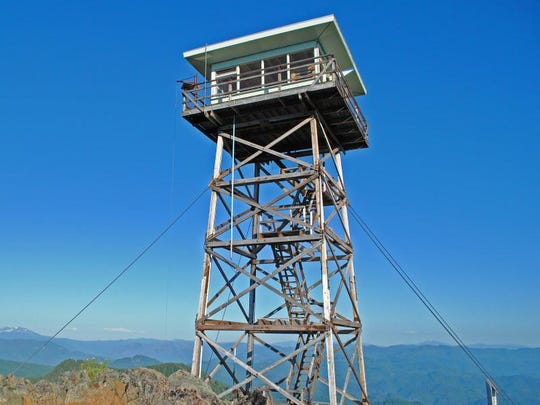 The Fairview Mountain Lookout is in the Umpqua National Forest and a favorite to rent during summer.