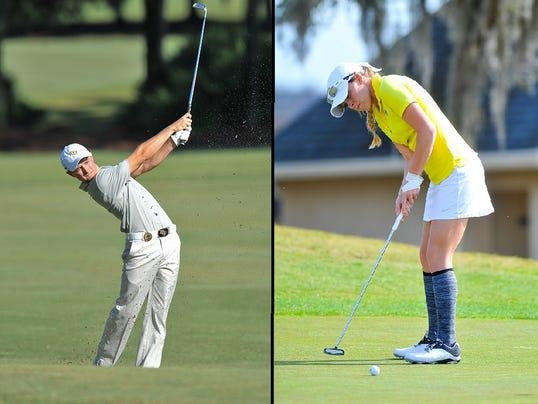 UCF golf: Ryan Stovash and Ashley Holder