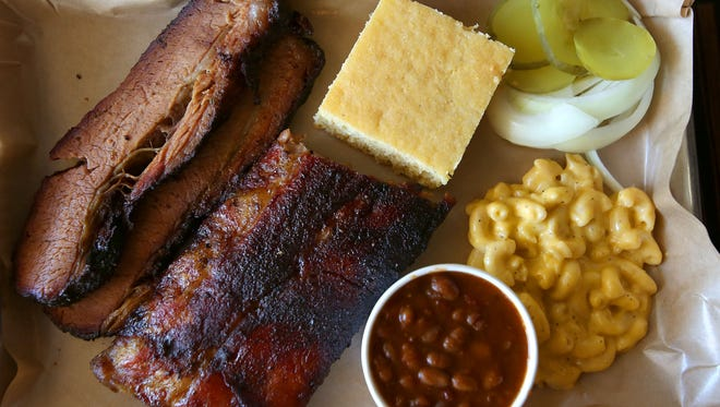 A sampling of food at Smoketree BBQ in Palm Desert, February 12, 2016.