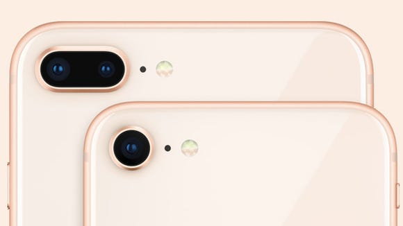 The iPhone 8 and 8 Plus are available in a new gold tone.