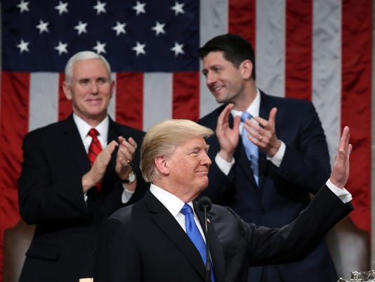 US President Donald J. Trump delivers his State of the Union to Congress