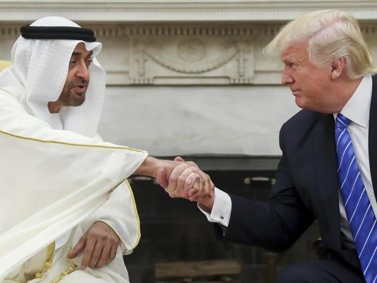 Donald Trump,Mohammed bin Zayed Al Nahyan