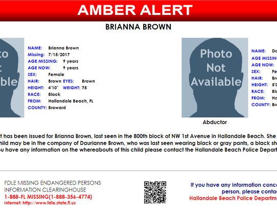 An AMBER alert has been issued for a Broward County