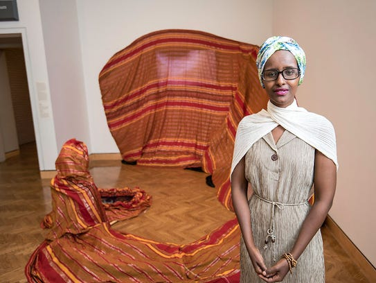 Artist Ifrah Mansour was born in Saudi Arabia and raised