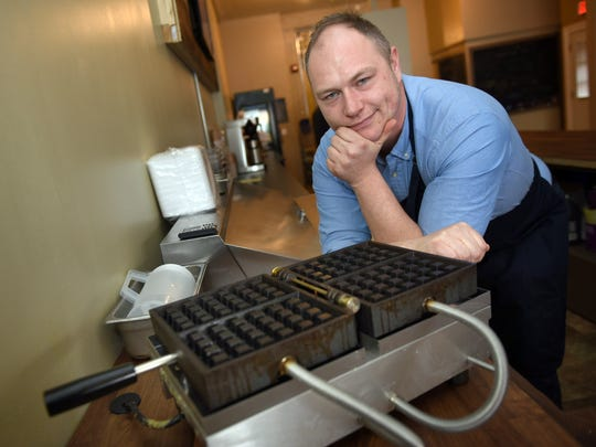 Alex Hemeryckx, photographed on Thursday, February 2, 2017, will open Brussel's Cafe at 55 North Main Street. Chambersburg. Hemeryckx will be using a 130-year-old family waffle recipe.