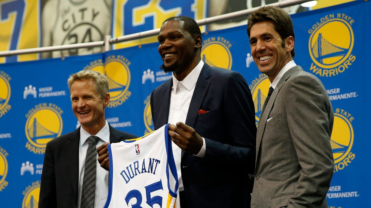 USA TODAY Sports' Sam Amick provides his thoughts on Kevin Durant's introductory press conference with the Warriors.