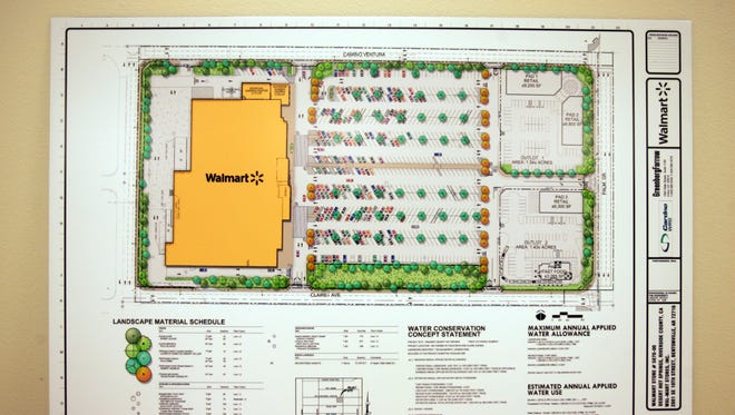 Plans for a proposed Walmart at Palm Drive and Camino Aventura in Desert Hot Springs.