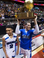 Shadow Mountain's Michael Bibby raises the Division