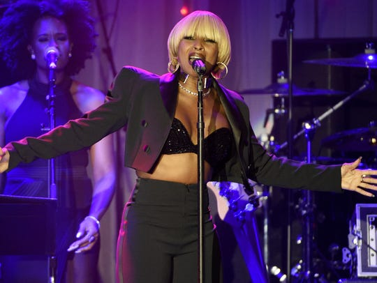 Mary J. Blige, pictured at the Clive Davis and The