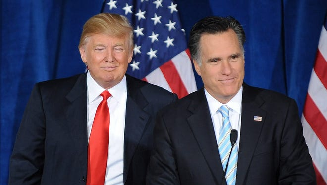 Mitt Romney and Donald Trump back in 2012.