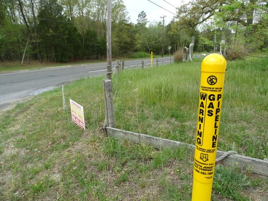 The proposed South Jersey Gas natural gas pipeline would begin here on Rt. 49 in Maurice River and run about 22 miles to the BL England power plant in Cape May County.