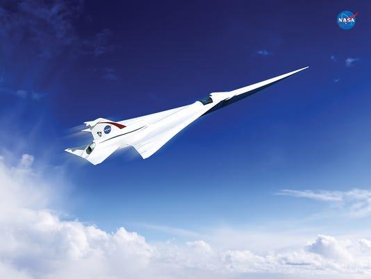 NASA supersonic jet