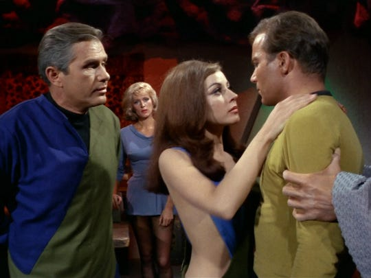 Screen shot of Star Trek episode, 'What Are Little