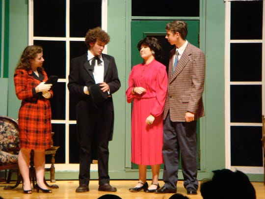 "Cameron as The Father in Caddo Magnet High School production of ""Enter Laughing"", 2007"
