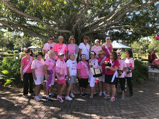 Members of the Woman's Club raised more than $1,500 for the Making Strides Against Breast Cancer Walk in October.