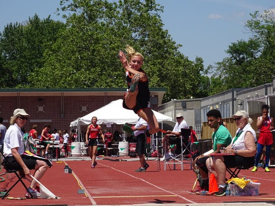 Lucas sophomore Emily Niswander broke her school record three times en route to a state runner-up finish in the Division III girls long jump.