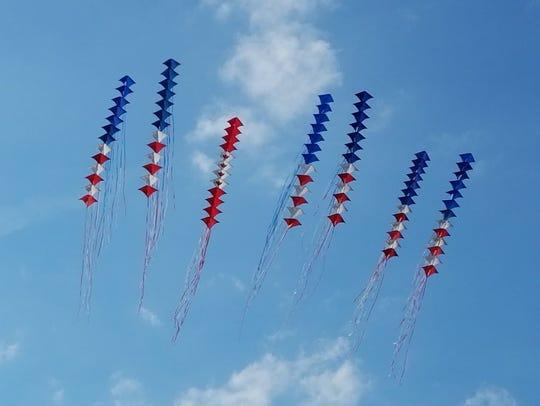 Windjammers Stunt Kite Team display their aerial artistry
