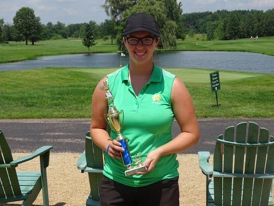 Newark Catholic senior Patricia Windholtz won the Blue Female Division of the Licking County Junior Golf Association on Monday.