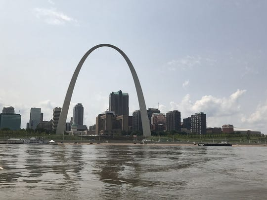 The Gateway Arch in St. Louis was among the sights