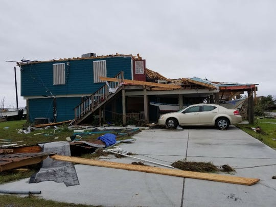 Image from Rockport, Texas on the coast where Hurricane