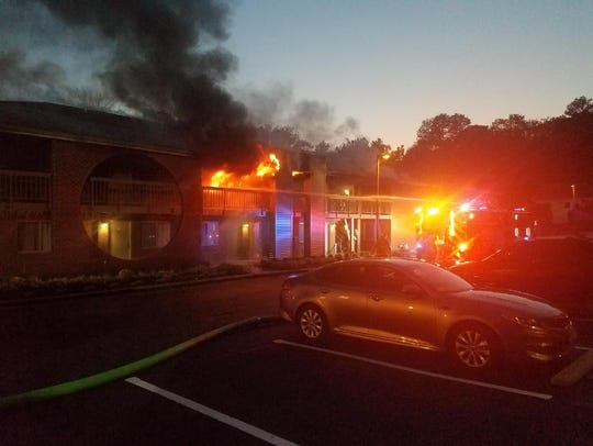 Sixty firefighters responded to the Best Western Hotel