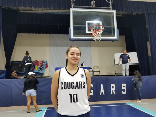 Academy's Mia San Nicolas led all scorers with 14 points through three quarters.