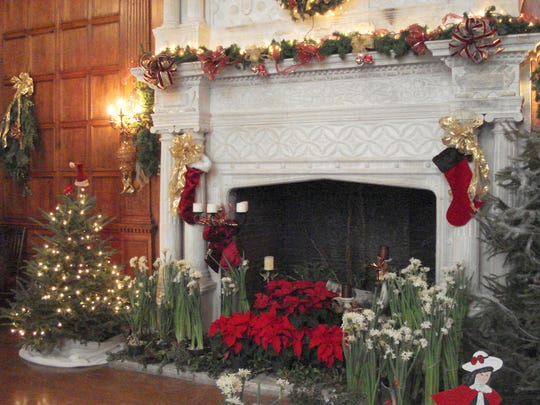 The Skylands Manor in the New Jersey Botanical Garden in Ringwood is decorated each fall for a holiday weekend. Decorations are on the mantle for on Nov. 30, 2017.