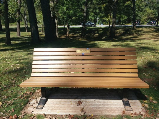 Tribute Benches provided a lasting memorial in the Somerset County Parks.