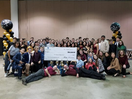 The Nutley High School Raider Marching Band wins $10,000 at the TaxSlayer Bowl in Jacksonville.