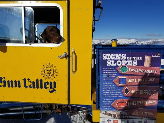 Sun Valley Patrol strategically place snowcat with NSAA Responsibility Code tips to draw attention to ski and snowboard safety on the slopes.