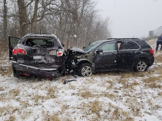 Amanda Sullivan and her family were involved in the large accident on I-44 near Marshfield, and their vehicle ended up down an embankment.