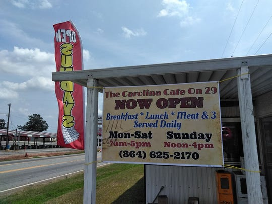 Find The Carolina Cafe on 29 across from the Jockey Lot in Anderson/Belton.