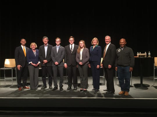 Six Democratic candidates vying for Iowa's governorship attended a forum at Simpson College April 11.