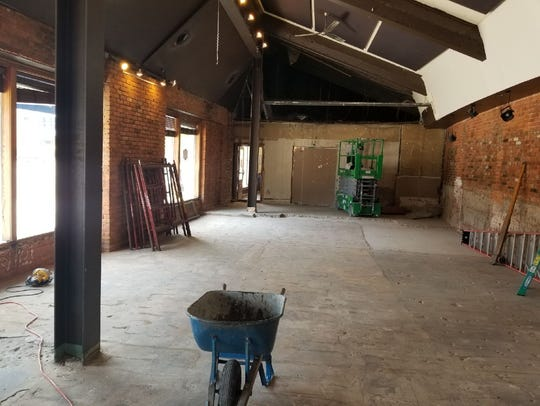 The former Majestic Cafe space has already been gutted