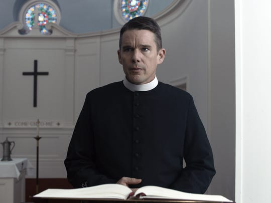 Ethan Hawke plays a troubled pastor with troubled parishioners