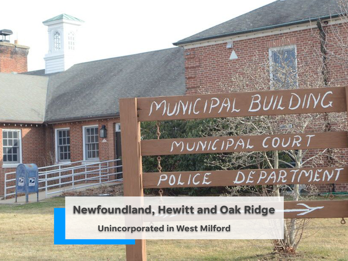 Within West Milford in Passaic County are Newfoundland,