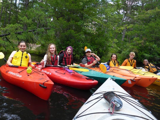Xtreme Adventurers enjoy a day of kayaking in the Pine
