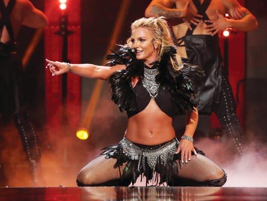 Singer Britney Spears performs onstage at the 2016