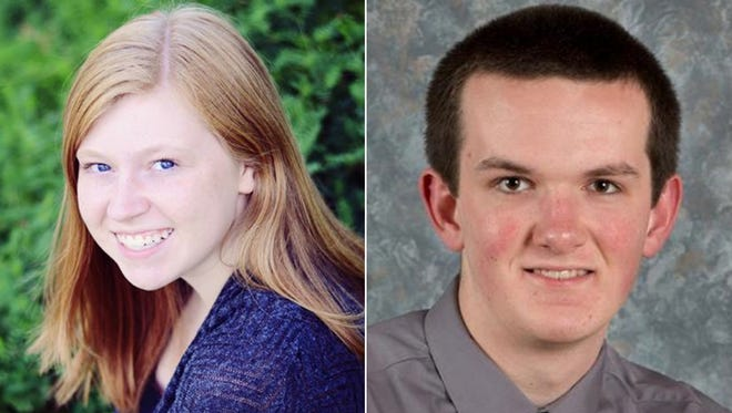 Casie Holdcroft and Eben Zellmer of Fox Valley Lutheran High School are this week's top scholars.