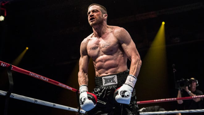 "Jake Gyllenhaal's first look in upcoming film ""Southpaw."""
