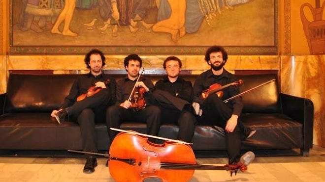 The Tiberius String Quartet will perform from Transylvania on Sunday afternoon for the Zoom version of Open Mic Classical.