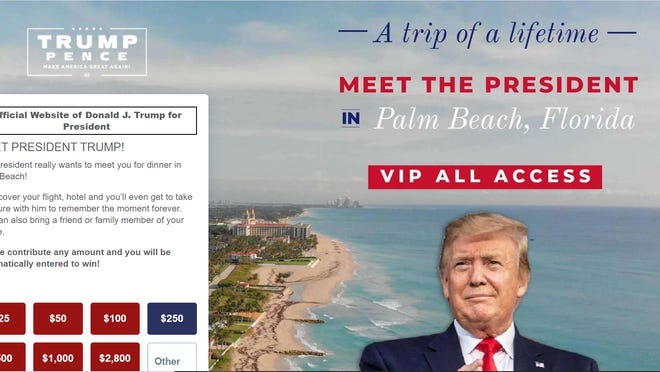 Screen shot of the campaign ad posting.
