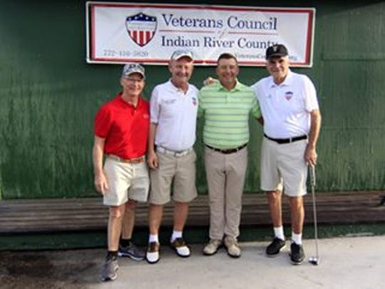 Anthony Young, left, Veterans Council immediate past