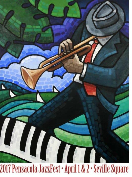 2017 Pensacola Jazz Fest Flier