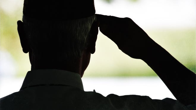 A veteran salutes the honor guard at a Gold Star Mothers ceremony at Kensico Dam in Valhalla this past September.