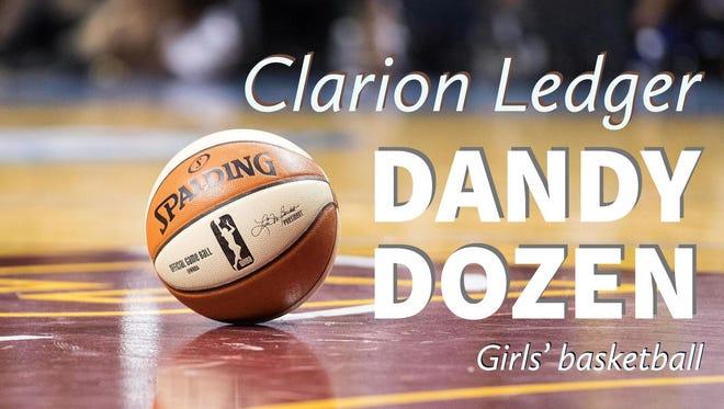 2017-18 Clarion Ledger girls' basketball Dandy Dozen