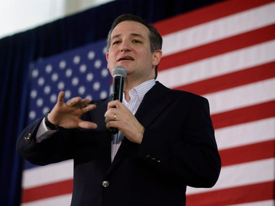 Ted Cruz on Feb. 22, 2016 at a rally in Reno, Nev.