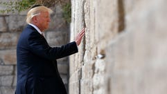 President Trump visits the Western Wall, the holiest