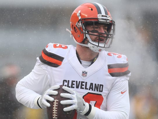 Cleveland Browns defensive back Justin Currie (39)